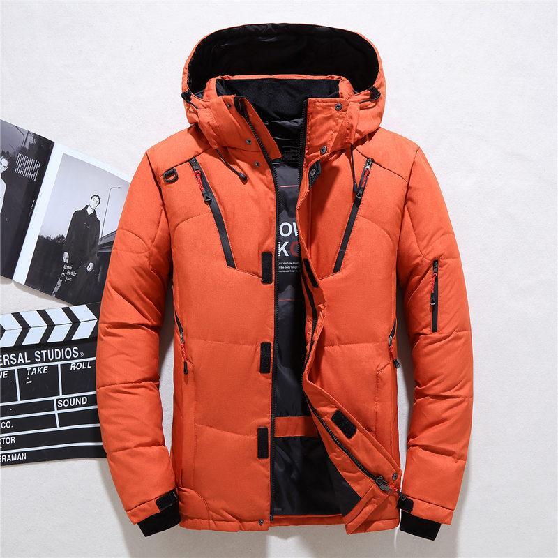 Şapka Dört Renk Mevcut Ördek Aşağı Kalın Kürk Yaka Erkekler Açık Kış Sıcak Coat XL Tide ile Mens Down Jacket Kış Erkekler Kısa