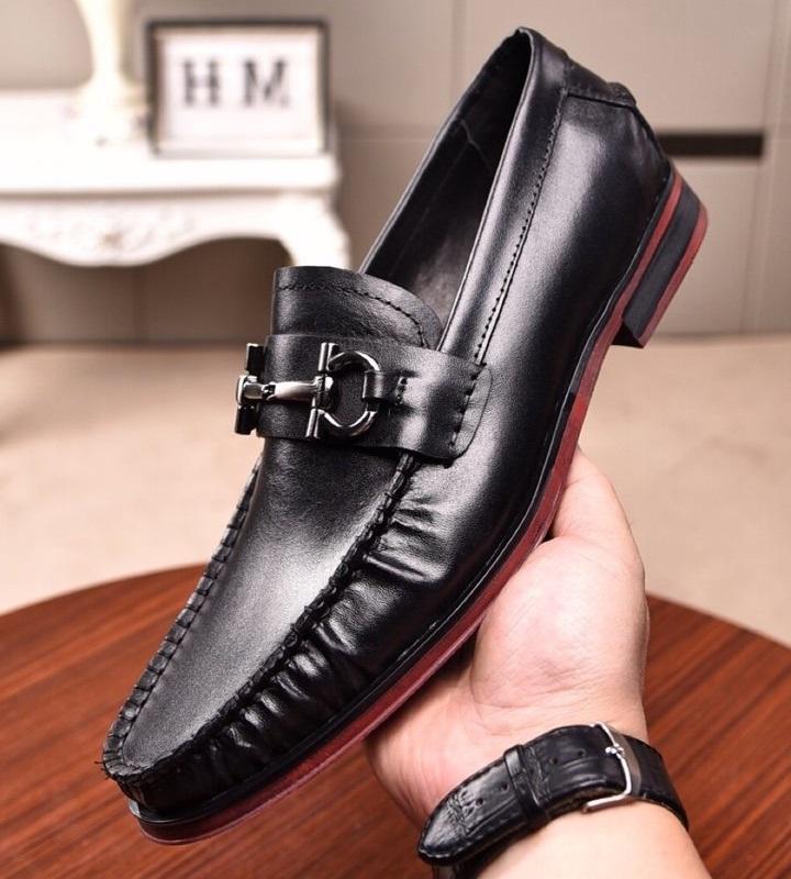 Brand Design Men couro de vaca casamento vestido de sapato Moda terno formal escritório de negócio Sapato Raso Doug Gommino condução mocassins Loafers, 38-45