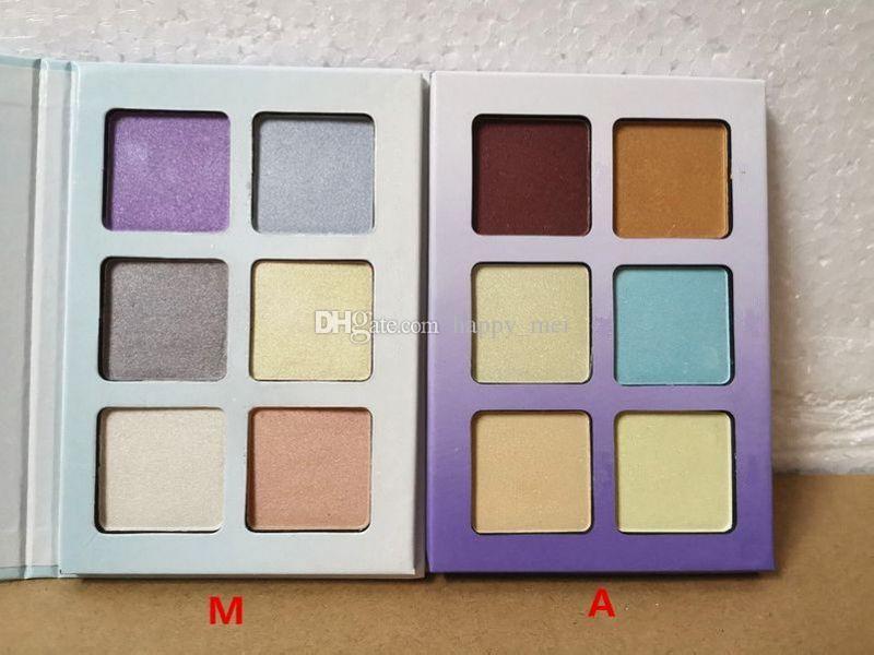 Фабрика сразу DHL Бесплатная доставка новый макияж лицо металлический порошок маркеры 6 цветов палитра порошка!2 Различных Цвета