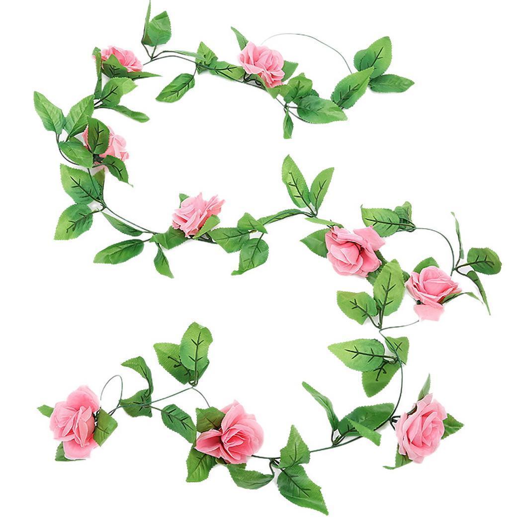 Partido Rose Ivy Vine Pendure Garland Flower Artificial Início Wedding / aniversário / Decoração de Natal Garden