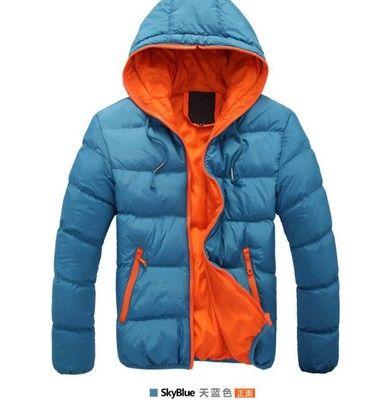 Veste d'hiver de mode-marque pour hommes manteaux à capuche Casual Mens épais manteau Homme Slim Casual Coton rembourré vers le bas survêtement