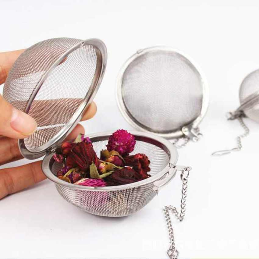 Stainless Steel Tea Pot Infuser Sphere Locking Spice Tea Bola peneira de malha Infuser chá coador ZZA1828 Filtro infusor
