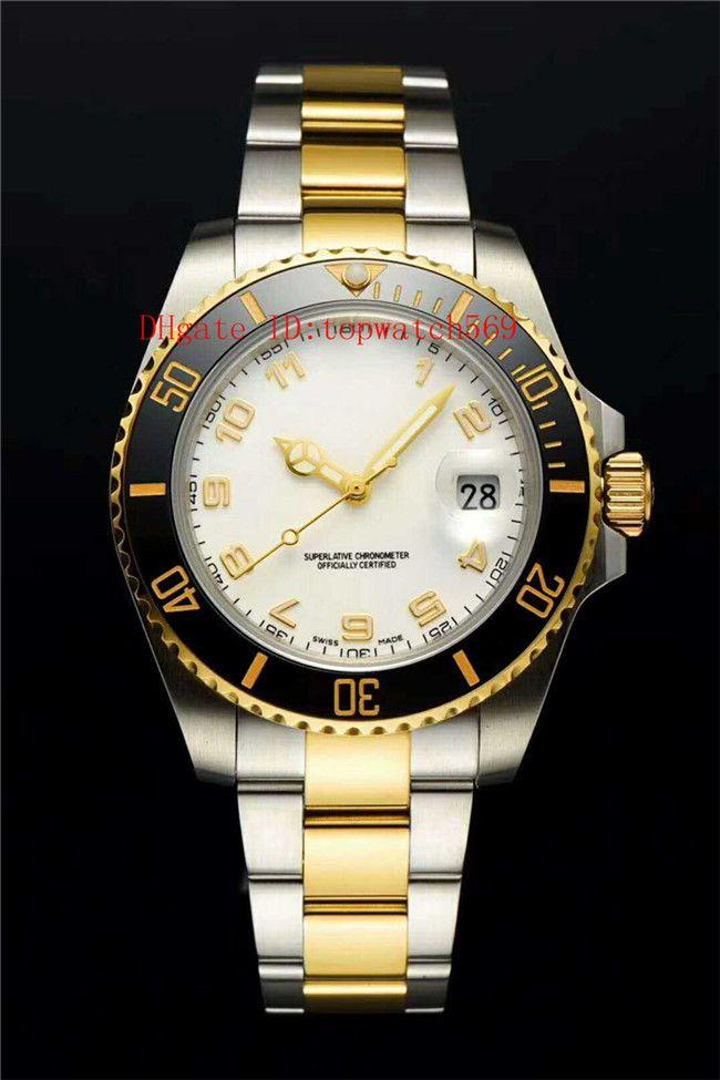 Новые мужские часы Дайвинг часы Swiss 8215 автоматические механические 21600 VPH Sapphire Crystal Power Reserve 48 часов Super Water Resistant