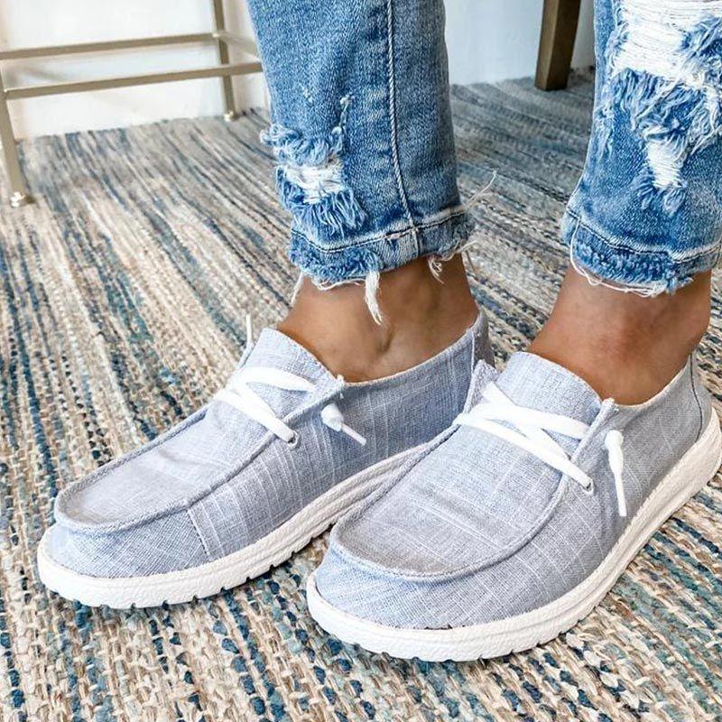 Mulheres Flats senhoras deslizamento ocasional em sapatas Tecido Loafers Femme Zapatos Mujer Sapato confortável Casual Feminino Tamanho 2020 Mulher Além disso,