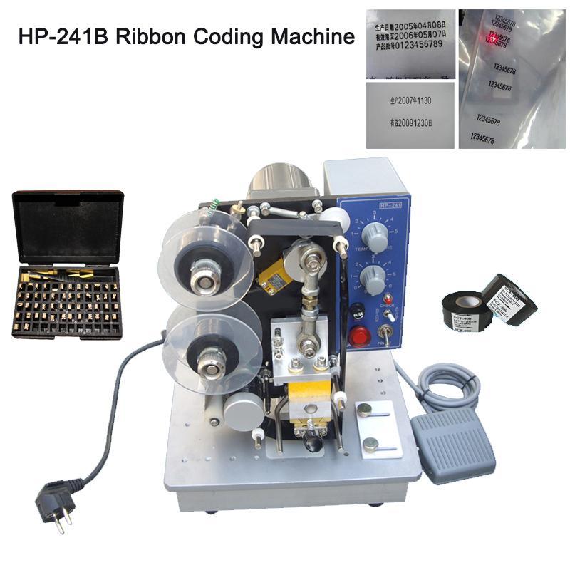 DHL grátis! Fita HP-241B a cores, Impressora de Código, temperatura ajustável, design modular, máquina de impressão quente para o vário material vedação macia