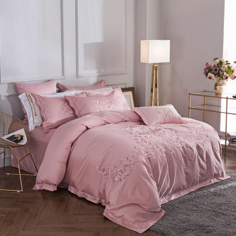 Explosive Modelle einfache Waschvierteiligen Anzug Mode große Namen Queen Bed Comforters Sets Designer-Bettwäsche-Sets Bettbezug 4 Stück 88 passen