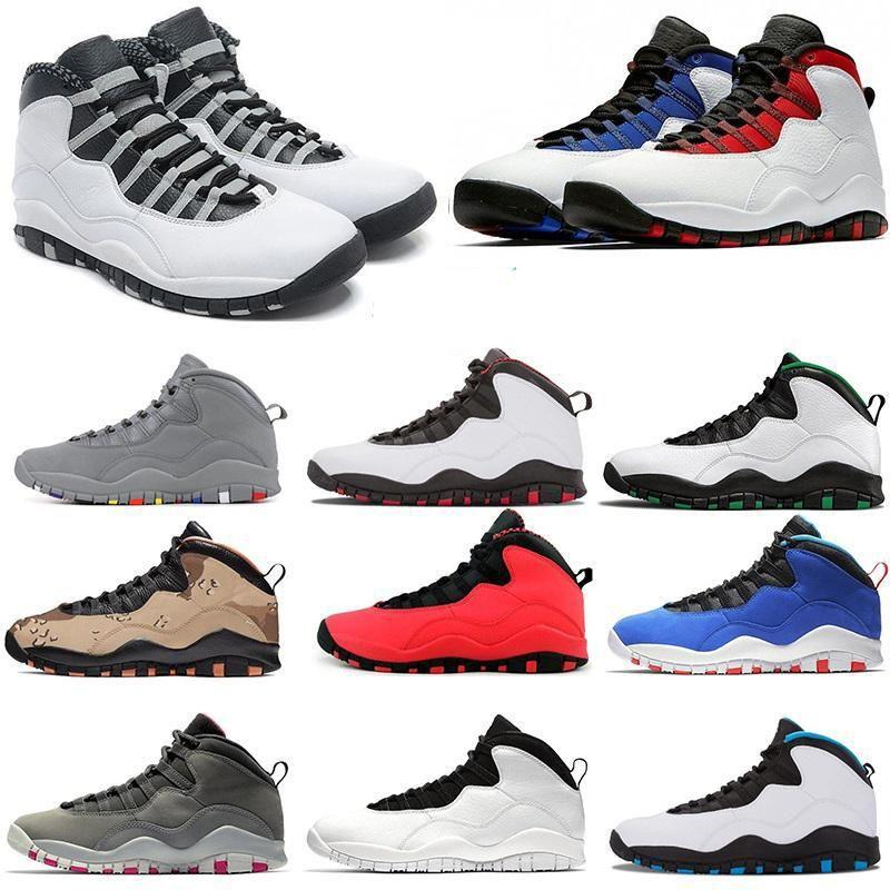 A1010s Мужская обувь 10 Сиэтл Мотоциклетная обувь белый цемент холодный серый Тинкер сталь серый дизайнерская обувь обучение 40-47