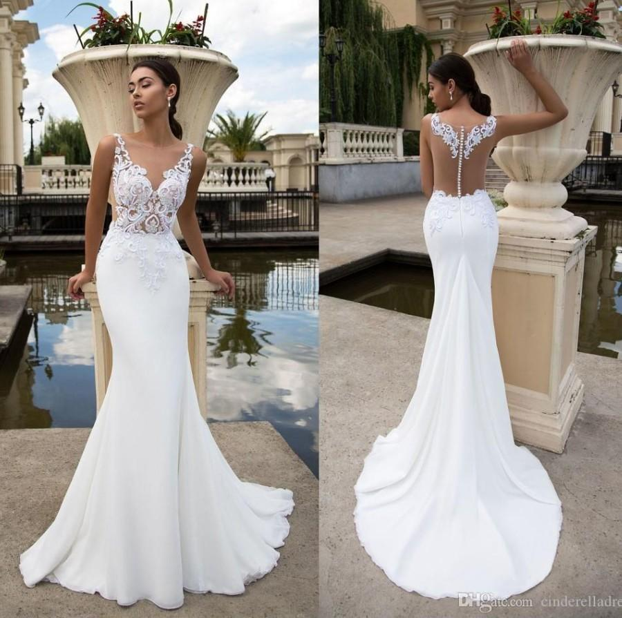 2020 Beach White Lace Mermaid Wedding Dresses Sheer Illusion Bodice Summer Simple Wedding Dress Plus Size Bridal Gowns Blue Wedding Dress Discount Wedding Dresses From Cinderelladress 124 38 Dhgate Com,Nice Dresses For Wedding Guests