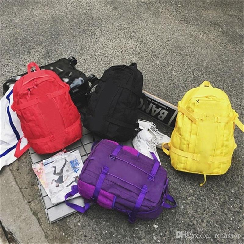 뜨거운 패션 럭셔리 디자이너 가방 Superme 여행 학생 가방 남자 여자 레저 숄더 백 배낭 대용량 야외 스포츠 팩