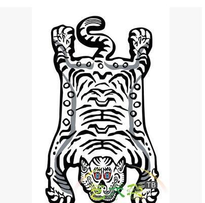 59x100cm творческий Тигр кожи узор ковер гостиная коврик прикроватный коврик противоскользящий коврик