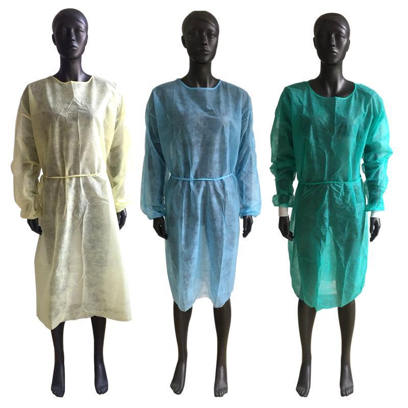 Vêtements Combinaison de protection civile extensible Manchettes Pp Nonwoven poussière Anti Antistatic Droplet travail Vêtements de travailleurs Combinaisons E1