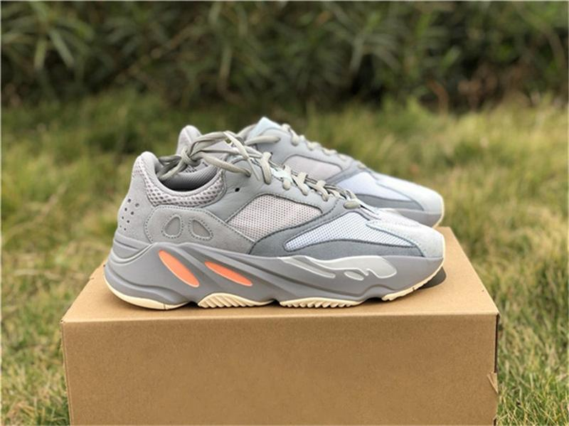 2019 Новый Подлинный 700 V2 Inertia Kanye West Открытый Обувь Для Мужчин Женщин Бегун Волна Mauve Статический Серый EG7597 Спортивные Кроссовки С Коробкой