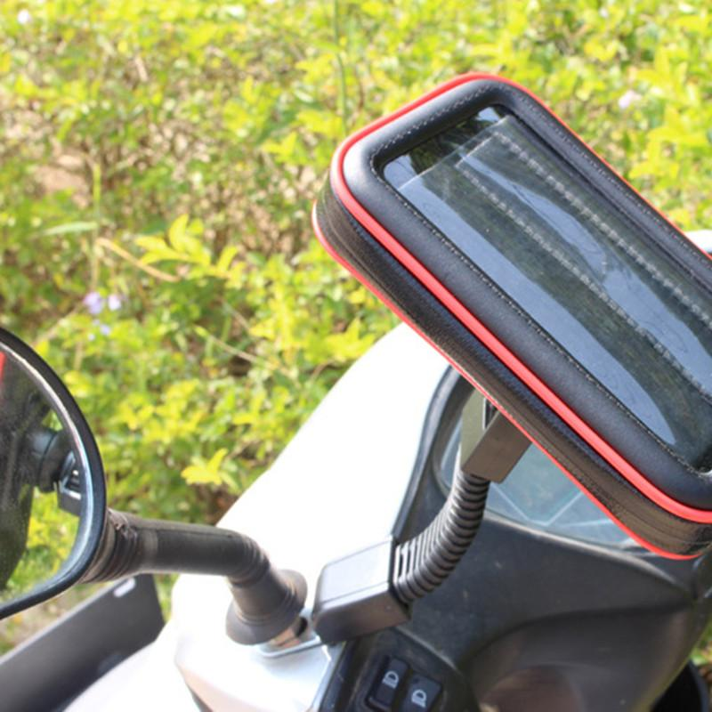 Motorcycle Phone Holder Stand for iphone 11 E-bike GPS Moto Mobile Case Support Shockproof Cover Waterproof Bag for Smartphones