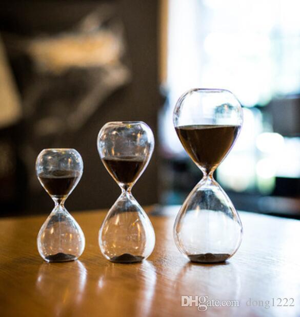 Estilo nórdico vidrio reloj de arena temporizador decoración hogar sala de estar decoración de la habitación regalo de cumpleaños creativo