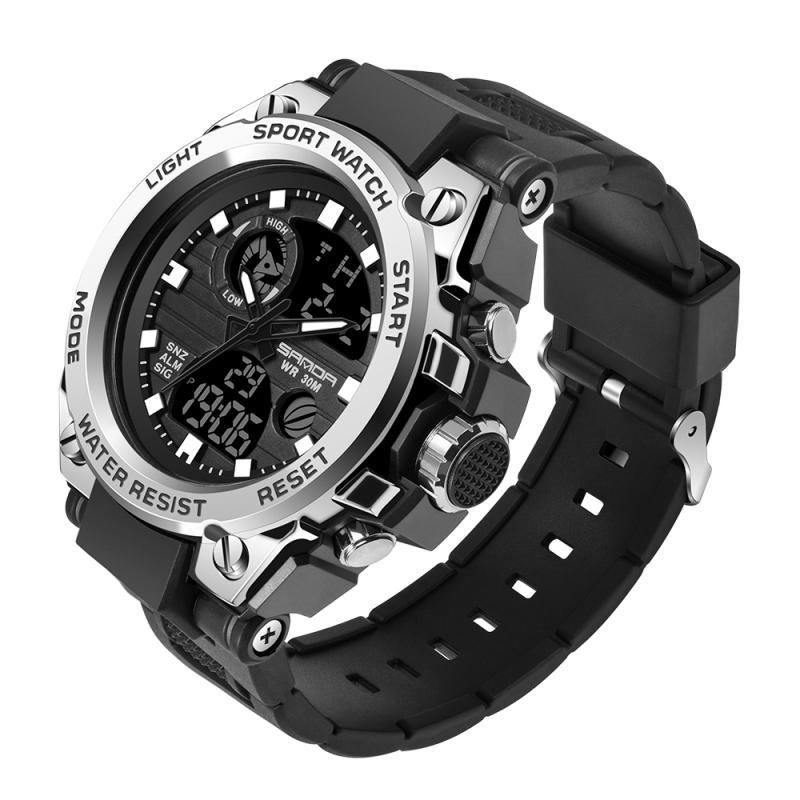 2020 orologio sportivo S Maschio Sanda da uomo Orologi LED Maschio dell'orologio LED Digital 3bar impermeabile della vigilanza Relogios masculino