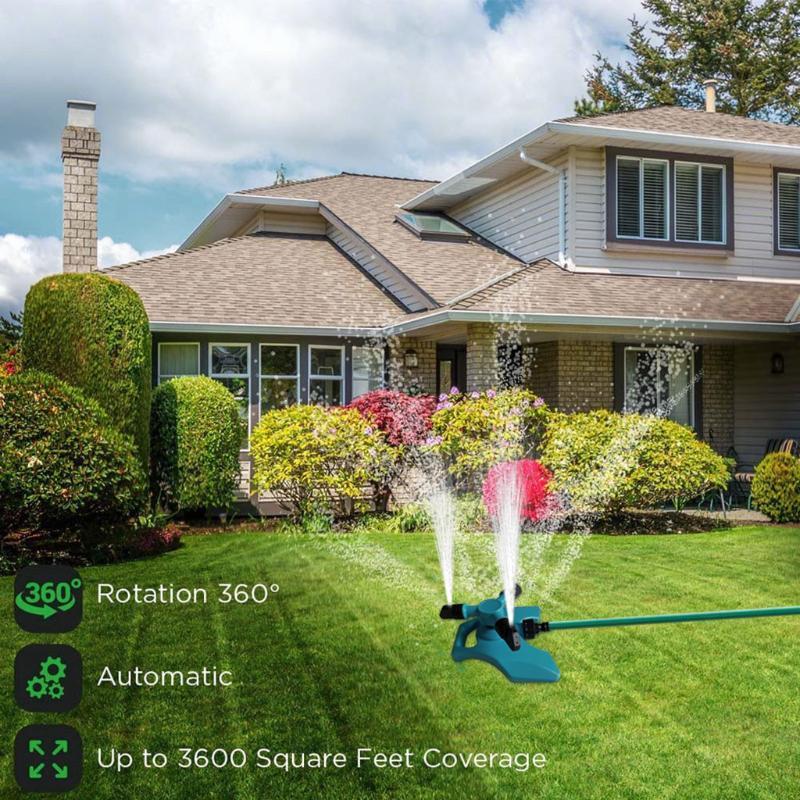 Prato spruzzatore automatico dell'acqua del giardino sprinkler irrigazione del prato rotazione a 360 ° irrigazione delle piante fiori per i bambini a giocare d3