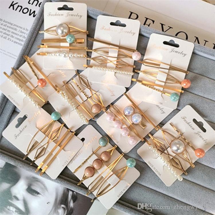 In Fashion Boutique Mädchen-Haarclip Perle Clips Strass Haar Kinder-Haar-Accessoires für Frauen BB Clips Mädchen Haarspangen ZFJ890