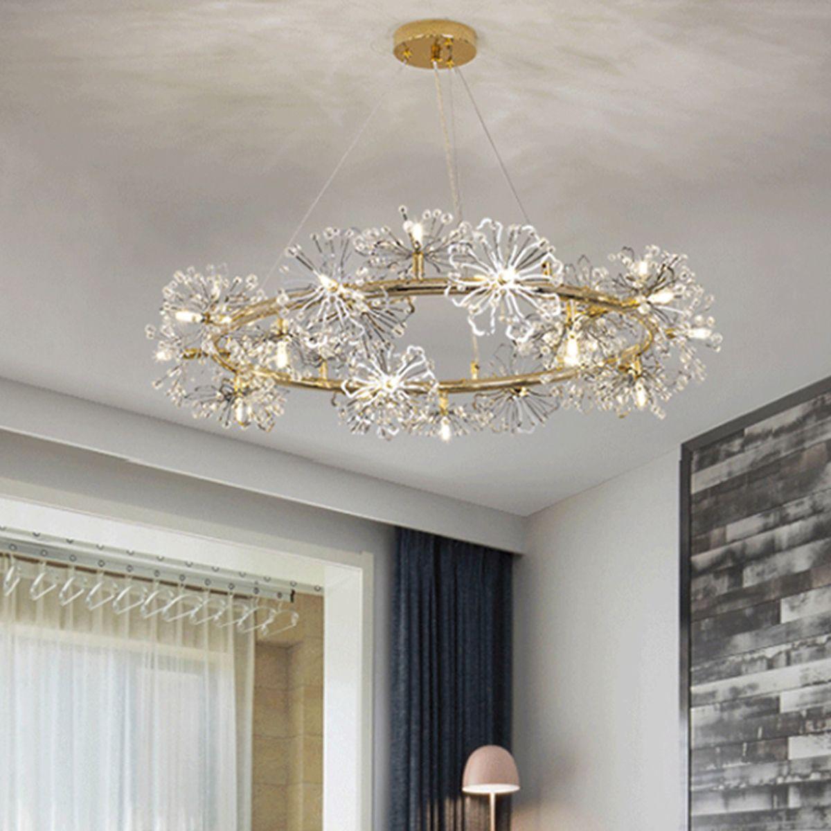 Nordic Living Room led Chandelier Net Red Style Creative Room Modern led Chandelier Lighting Personality Romantic Crystal Light Bedroom Lamp