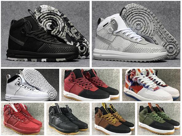 New couro real Lunar ria 1 Men Duckboot s sapatilha alta corte sapatos de skate sapatos de caminhada ao ar livre Esportes Jogging A1 Shoe1s Casual 40-46