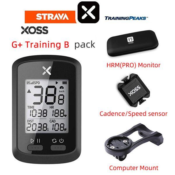 XOSS Ordinateur de vélo G + GPS sans fil Compteur de vitesse Route étanche Vélo VTT Vélo Bluetooth ANT + avec Cadence Cycling Computer
