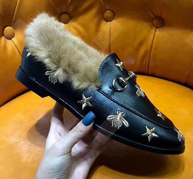 New Chaussures luxe Dias Freizeitschuhe Frauen Designer, Rauchen Faulenzer, Leder Sterne-Freizeitschuhe, Mode luxe Designer Faulenzer p18