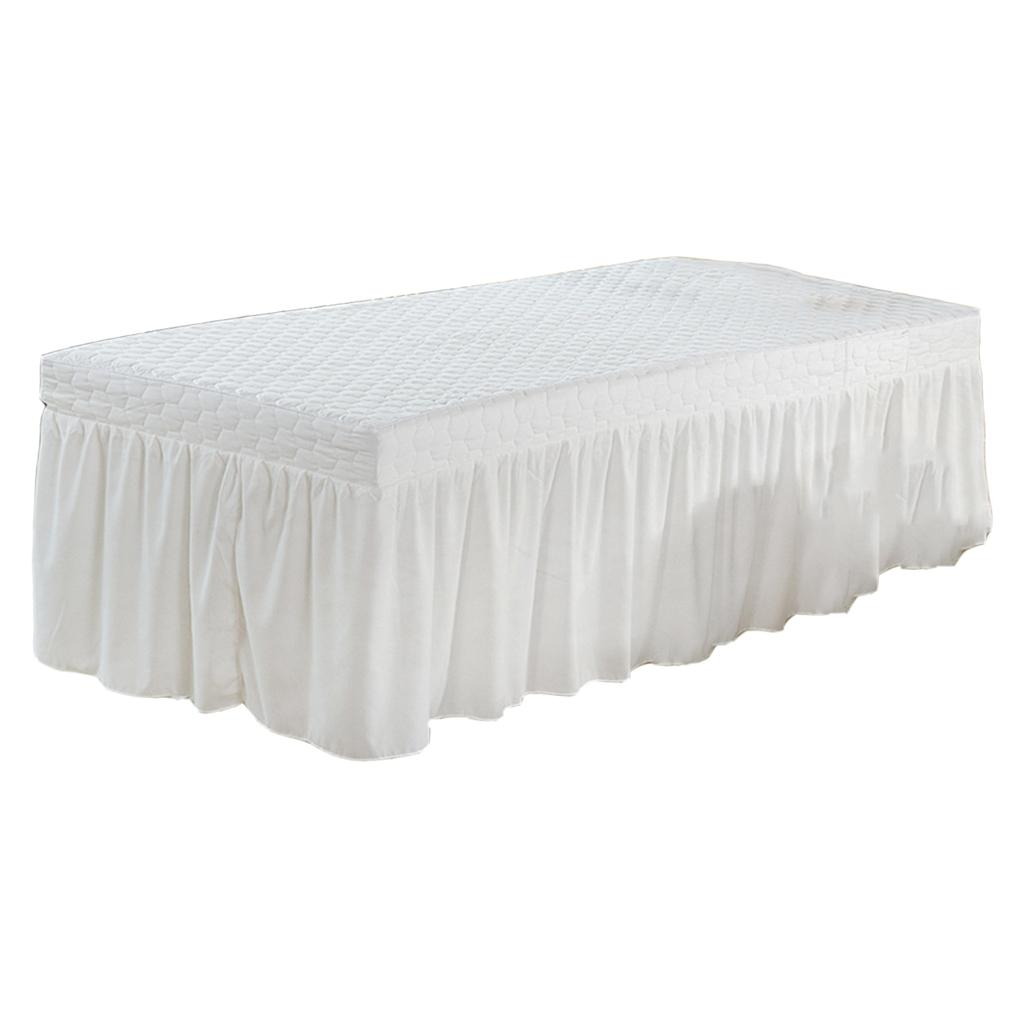 190x80cm Microfiber Cosmetic Mattress Valance Sheet Massage Table Skirt European Style