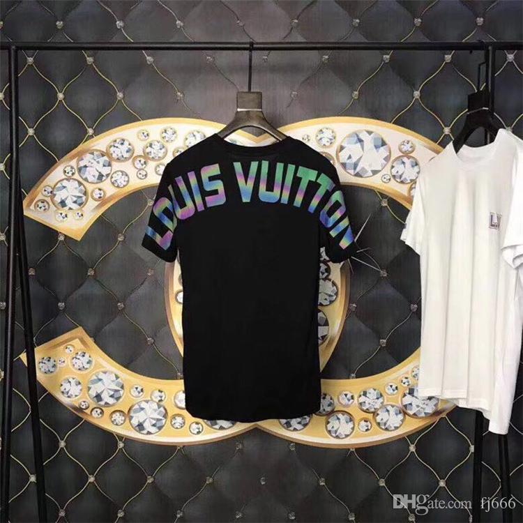 Mode Designer De Luxe Hommes T-shirts Pour Hommes Tshirt Lettres Clignotant À Manches Courtes Pour Hommes T-shirts Medusa T-shirt