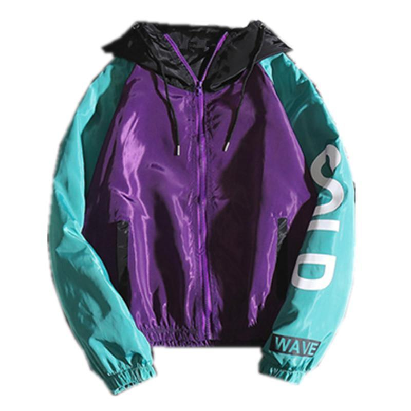 Jackets Men Letter Printed Hooded Patchwork Leisure Harajuku Daily Hip Hop Jacket Mens Trendy Korean Style Zipper Chic Coats Young