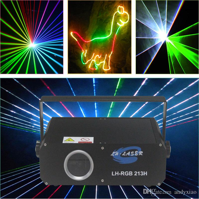 ILDA+DMX512 1000mw RGB animation laser lighting with effects / Auto and Sound Active disco stage light Projector