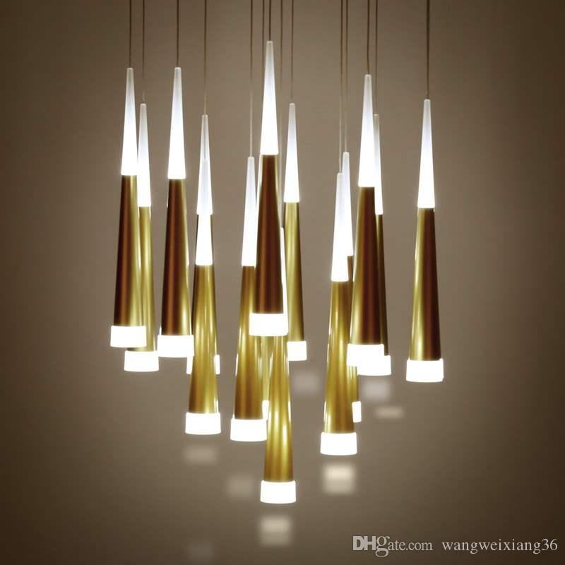Modern Led Conical Pendant Light Aluminum Ampmetal Home Industrial Lighting Hang Lamp Dining Living Room Bar Cafe Droplight