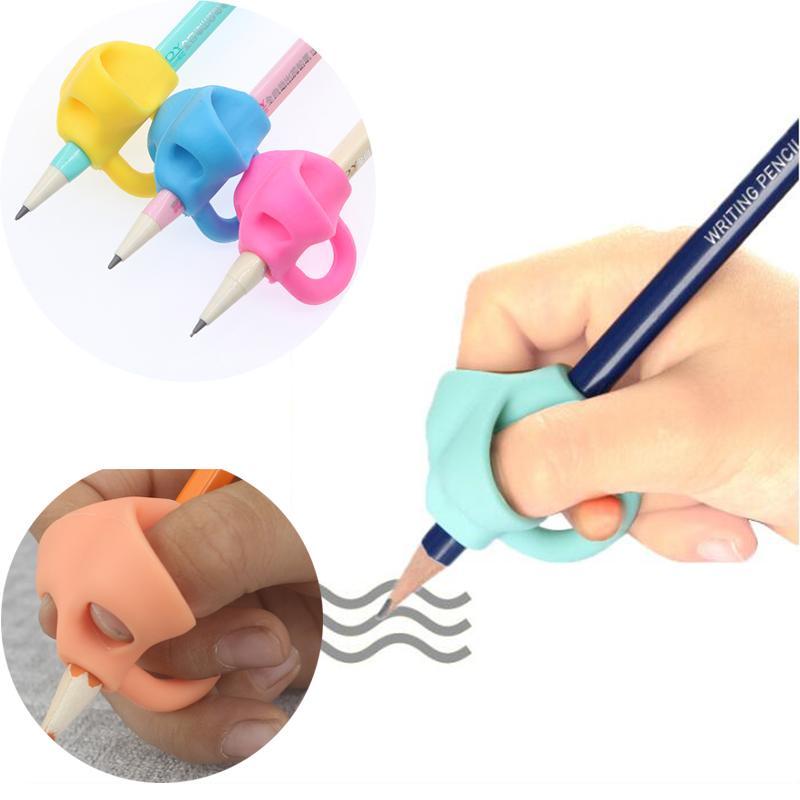 Jeux d'écriture Enfants d'âge préscolaire Débutants Grip Stylo correcteur en silicone Aide à l'écriture Correction de la position des doigts