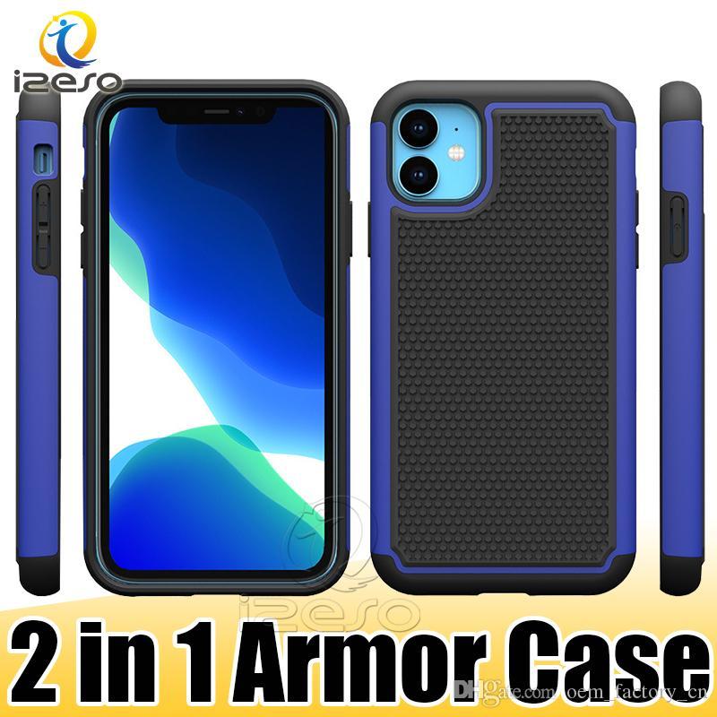 Cassa del telefono del robot per iPhone 12 11 Pro caso della copertura XS MAX XR 8 più 2 in 1 robusta armatura cellulare Indietro izeso