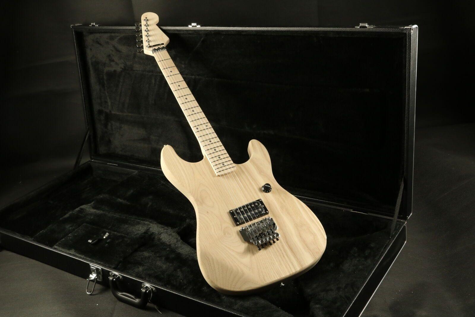 Unfinished ST Electric Guitar Kits Floyd Rose Bridge ASH Body Fingerboard Maple