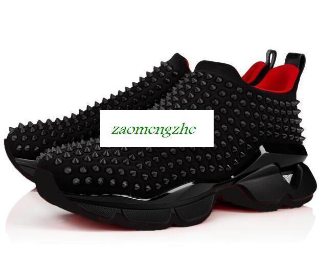 Kırmızı Ünlü marka ayakkabılar nail çorap tırnak spor ayakkabıları alt erkek ve bayan tırnak eğitim ayakkabıları Donna size35-46 kırmızı