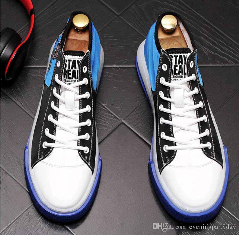 2019 New Men Casual Shoes High Top