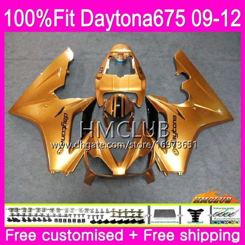 Injection For Triumph Daytona 675 09 10 11 12 Bodywork Glossy gold 44HM.10 Daytona-675 Daytona675 Daytona 675 2009 2010 2011 2012 Fairing