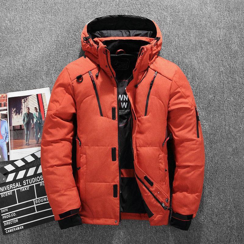 NOUVELLE TAILLE M-4XL chaud épais manteau d'hiver à capuchon Hommes Casual Outdoor Man Down Veste coupe-vent Mode Parka Hommes Pardessus
