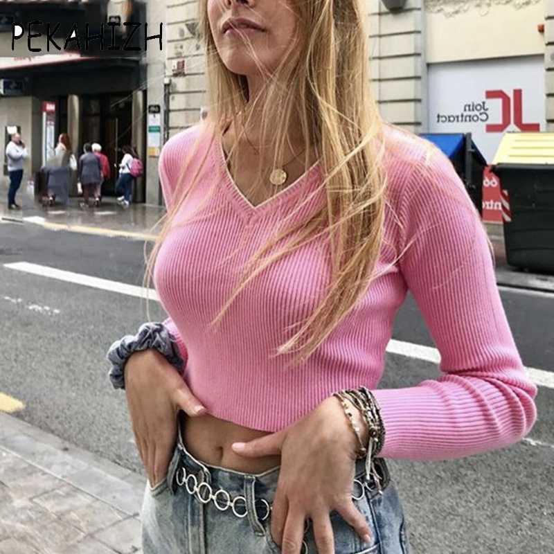 chandails des cultures sexy printemps pull mignon vêtements d'hiver Kawaii pull en tricot femmes pulls complète 2020