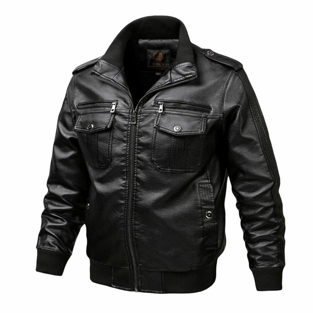 erkek Mont chaqueta hombre invierno otoño invierno de la cremallera de la vendimia del collar del soporte de la chaqueta de imitación de la capa de cuero de los hombres de la capa veste