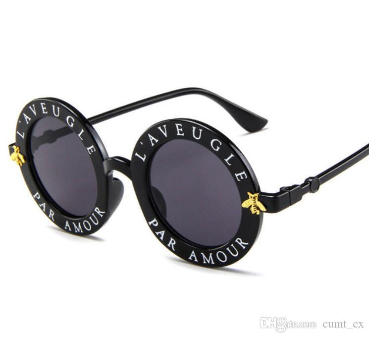 gafas de sol pequeñas abejas marco redondo gafas de sol hombres y mujeres moda gafas tendencia gafas de sol UV400 Envío Gratis