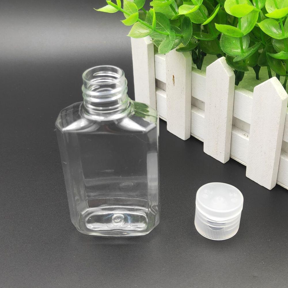 Leeren Hand Sanitizer Gel-Flasche Handseife Flüssig Flasche Klar Zwängt Pet Sub-Spielraum-Flaschen 60ml