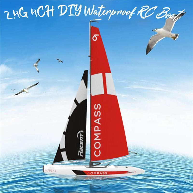 High Quality Volantexrc 791-1 65CM 2.4G 4CH Rc Boat Pre-assembled Sailboat Without Battery Toy RC Tiny Gift Present Kid Toys Y200317