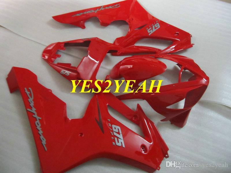 Fairings Injection Body kit for Triumph Daytona 675 05 06 07 08 Bodywork DAYTONA675 2005 2008 Hot red Fairing kit+Gifts DA09
