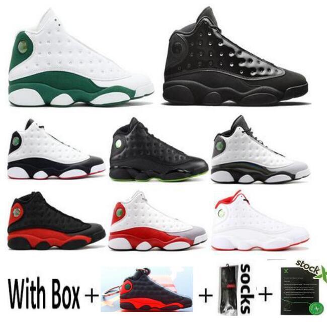 Toptan 13s erkek basketbol ayakkabıları Kara Kedi 13 eğitmen erkek spor ayakkabı numarası 8-13 sneaker Uçuş Hiper Kraliyet Buğdayın Chicago History yetiştirilen
