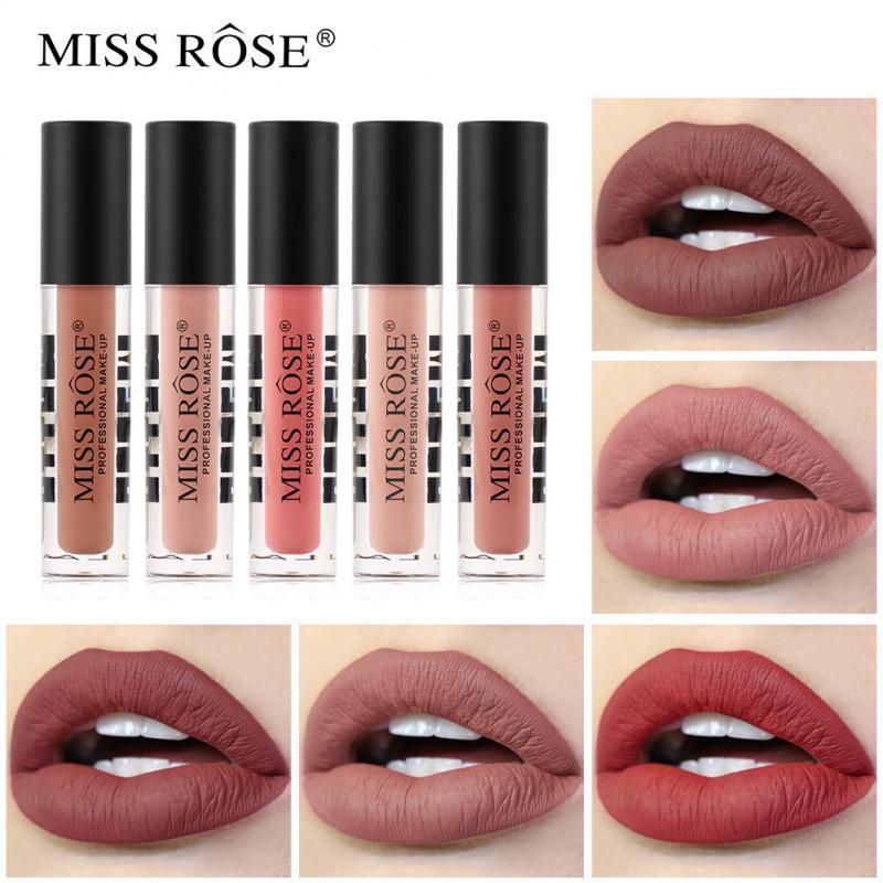 MISS ROSE opaco tubo lucidalabbra trasparente non è facile tazza bastone non è facile da scolorire rossetto