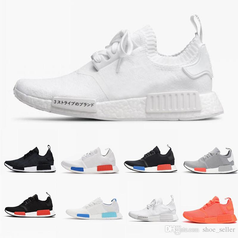 2019 New Wholesale R1 Shoes Discount Cheap Japan Red Gray Nmd