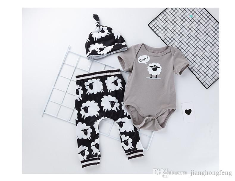 Toddler Baby Boy Girls Sheep Long Sleeve Rompers Jumpsuit Outfit Set