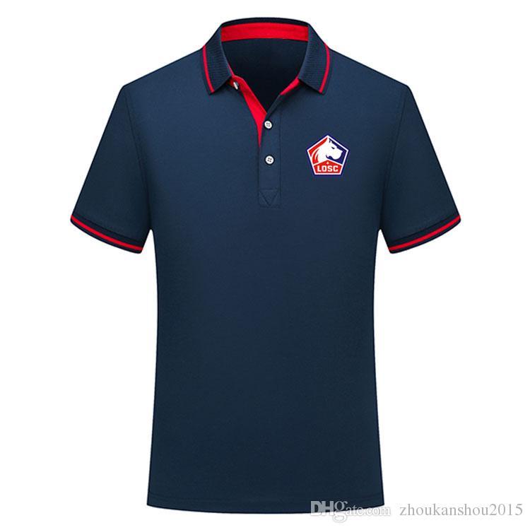 2019 2020 Ligue 1 Lille Polo рубашка футбол трикотажные изделия Pepe Polo футбол для футболки мужчины 19/20 Lille мужской футбол рубашки поло