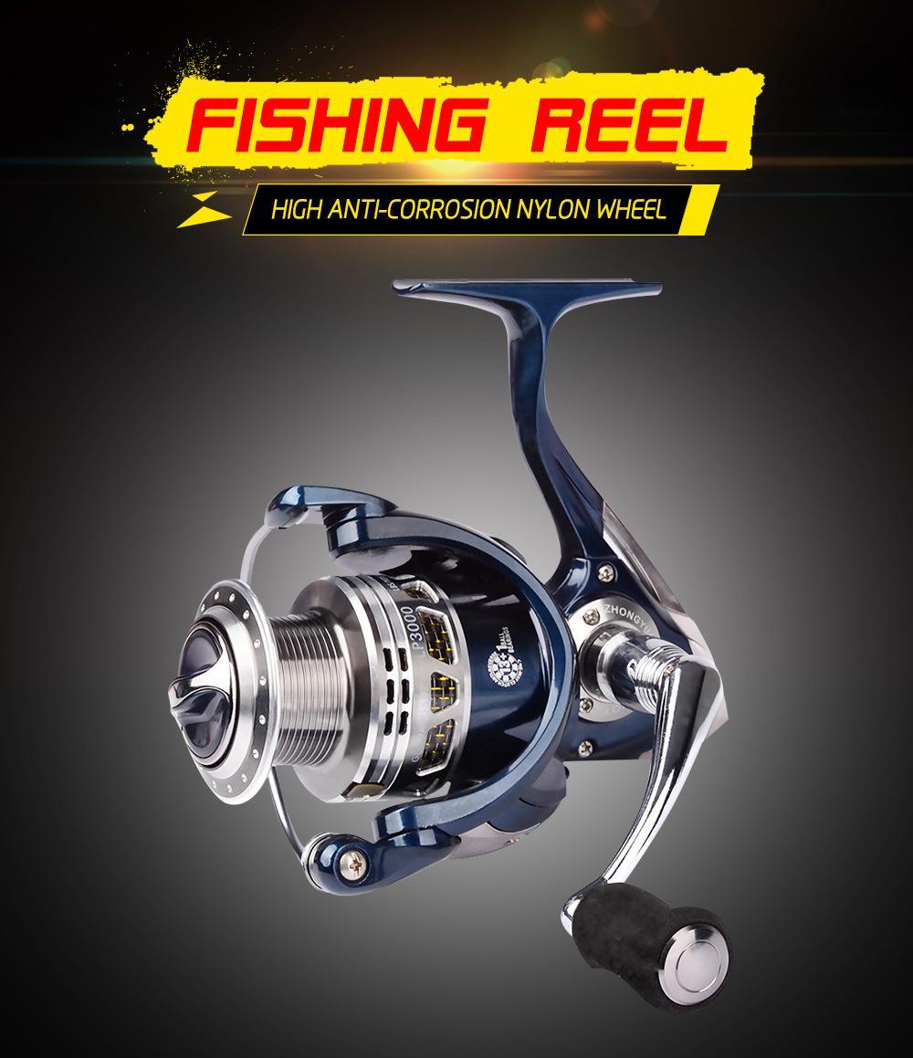 Рок спиннинг рыболовные приманки катушки 5.5: 1 влево / вправо взаимозаменяемые Aolly рыболовное колесо LP1000 13 + 1 BB металл Aolly ручка катушки