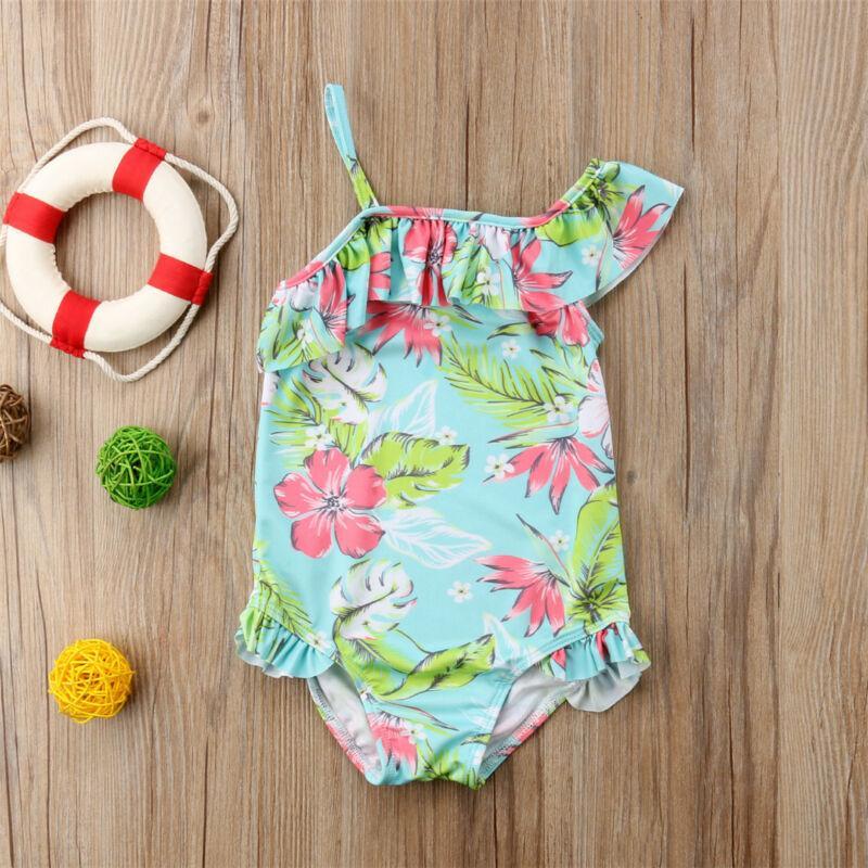 Moda Kid Bebés Meninas Floral Bikini Swimwear Swimsuit Terno Beachwear verão férias praia roupa